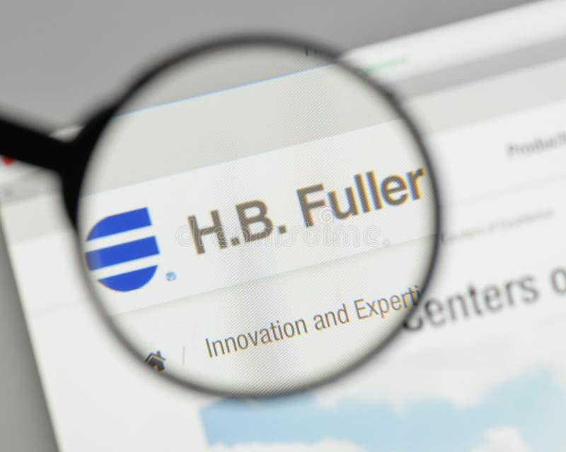 米兰,意大利- 2017年8月10日:H B 在网站上的更加充分的商标 免版税库存图片