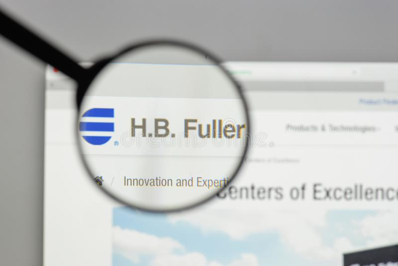 米兰,意大利- 2017年8月10日:H B 在网站上的更加充分的商标 库存图片