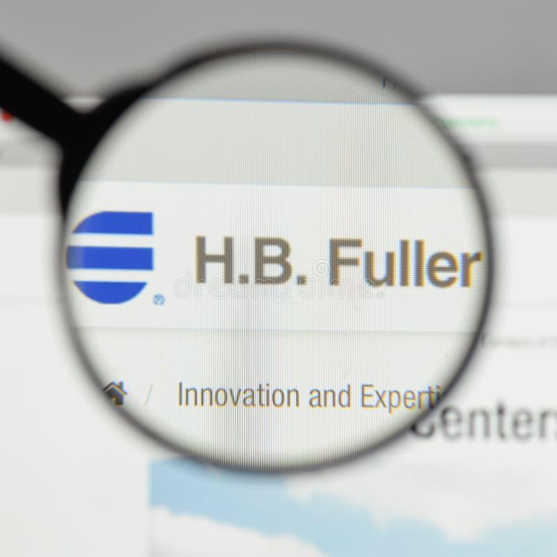 米兰,意大利- 2017年8月10日:H B 在网站上的更加充分的商标 图库摄影