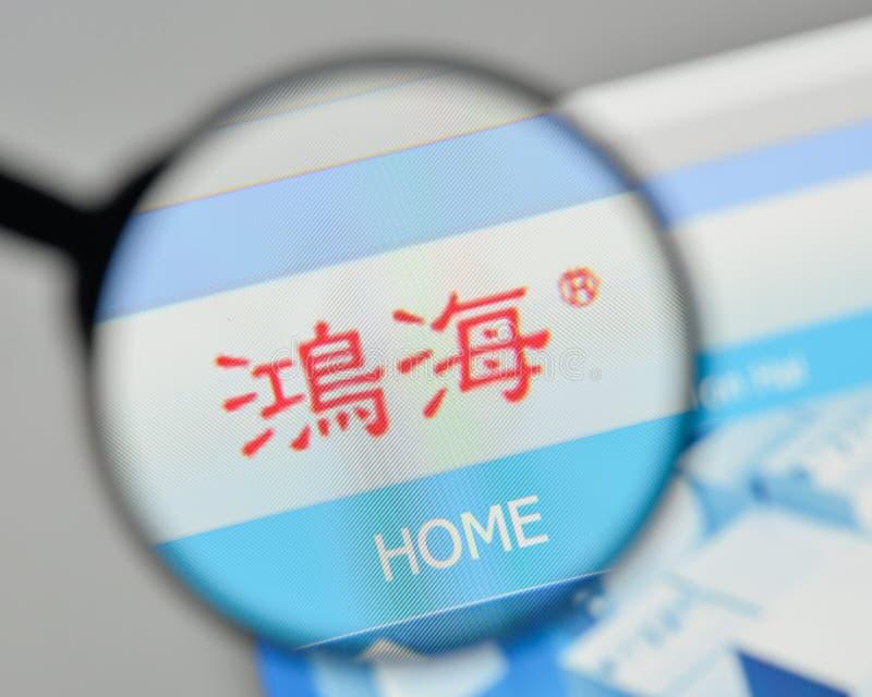 米兰,意大利- 2017年11月1日:Hon羽渭精确度产业商标 免版税库存图片