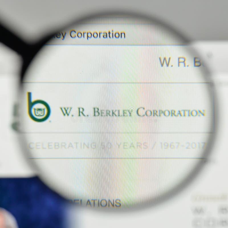 米兰,意大利- 2017年11月1日:W r 在websit的Berkley商标 图库摄影