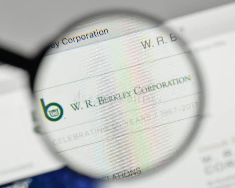 米兰,意大利- 2017年11月1日:W r 在websit的Berkley商标 库存图片