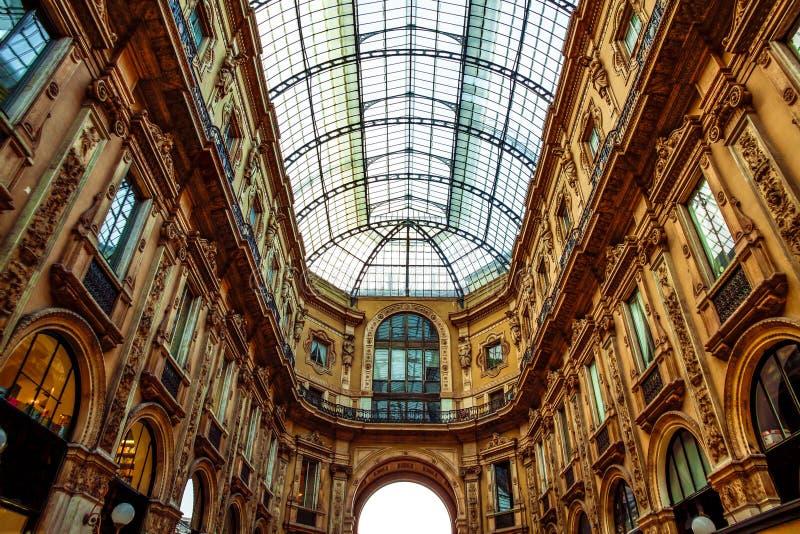 米兰,意大利-购物中心 库存图片