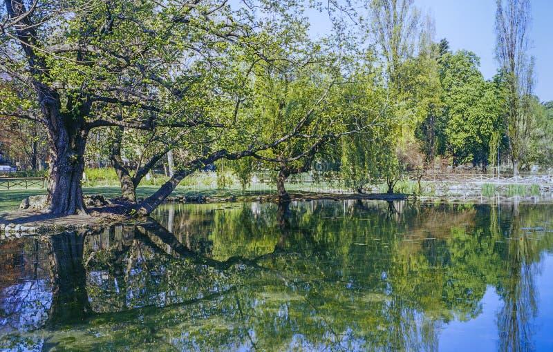 米兰, Parco Sempione 免版税库存照片