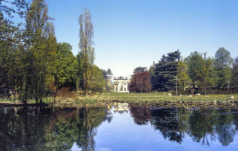 米兰, Parco Sempione 图库摄影