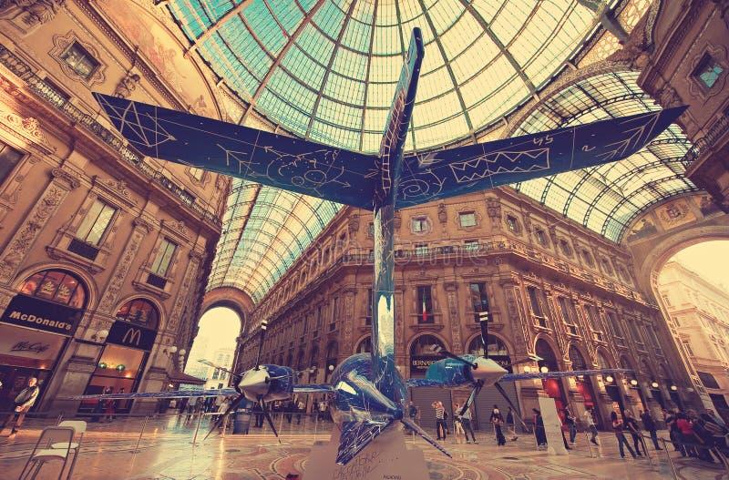 米兰 意大利 主要画廊 免版税图库摄影
