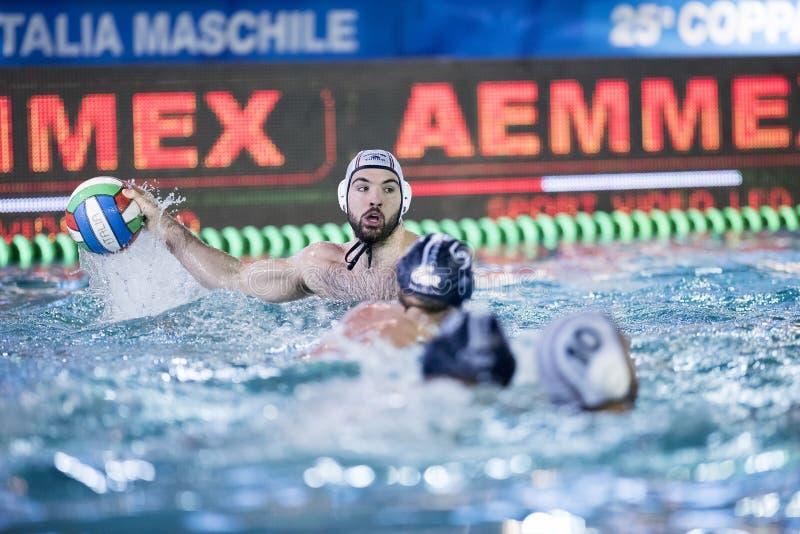 米兰- 4月13 :比赛的赞成雷科安德里亚Fondelli (赞成雷科) 免版税库存图片