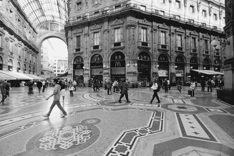 米兰黑白色 免版税库存图片