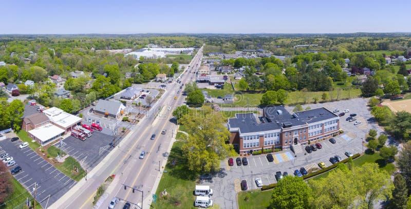 米利斯城镇厅,马萨诸塞,美国 免版税库存照片