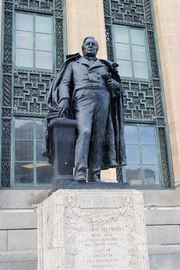 米勒德・菲尔莫尔雕象 免版税库存图片