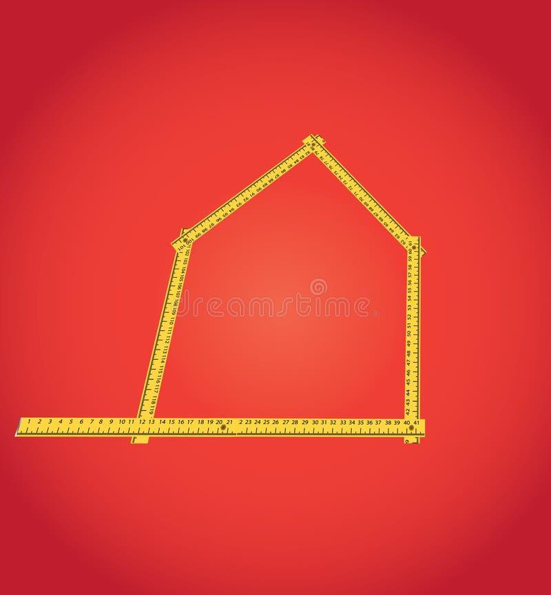 米化合物作为房子分级显示 皇族释放例证