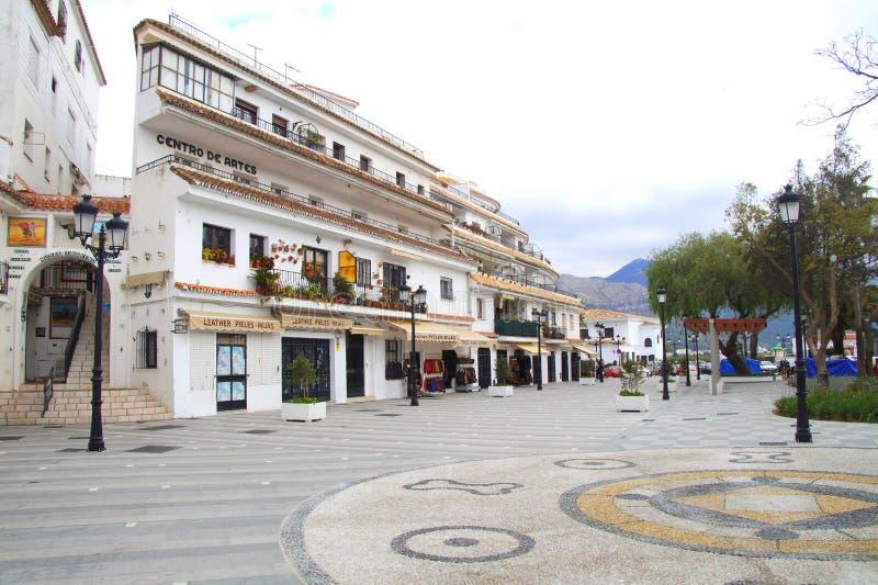 米哈斯,西班牙的村庄中心 免版税库存照片