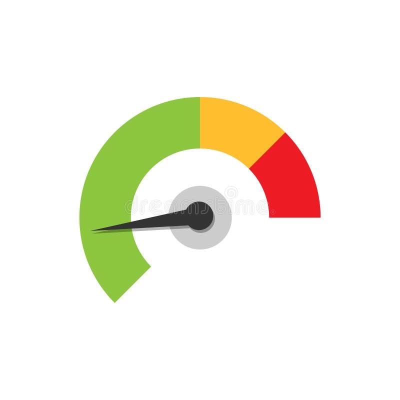 米在平的样式的仪表板象 信用评分显示水平 库存例证