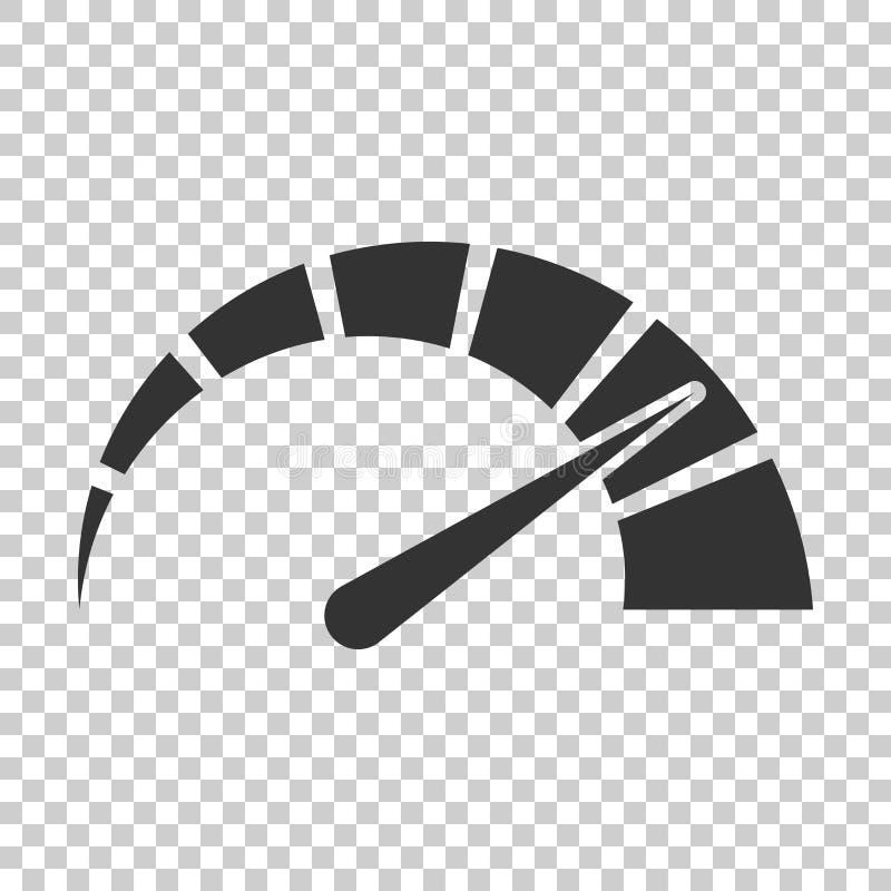 米在平的样式的仪表板象 信用评分显示水平 皇族释放例证