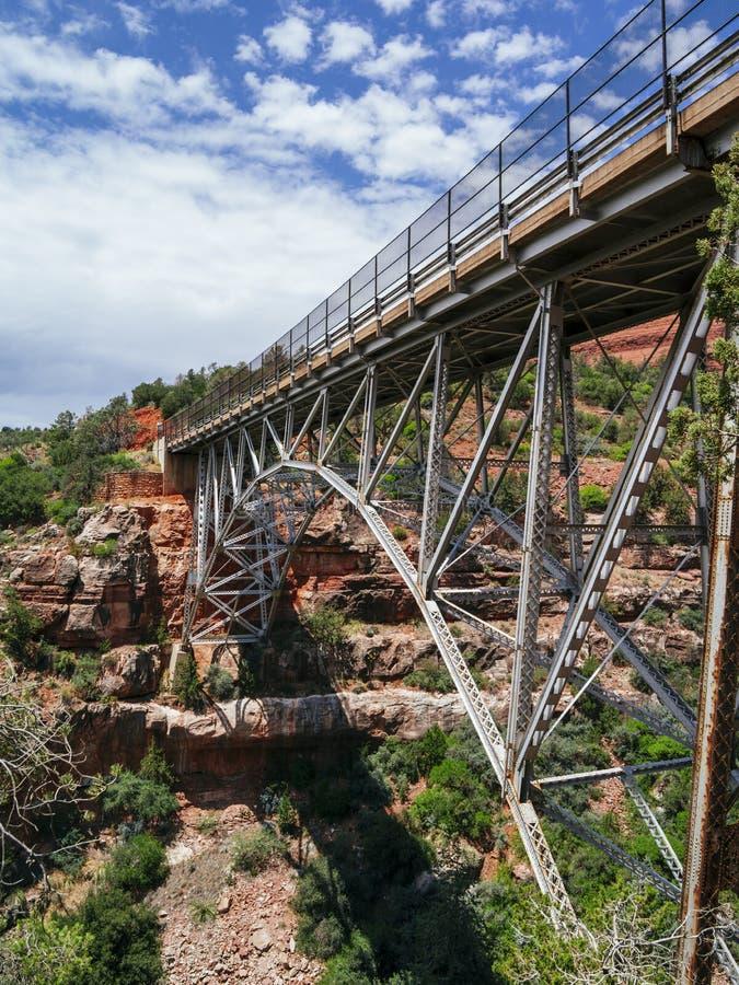米奇利桥梁在塞多纳亚利桑那 免版税库存图片