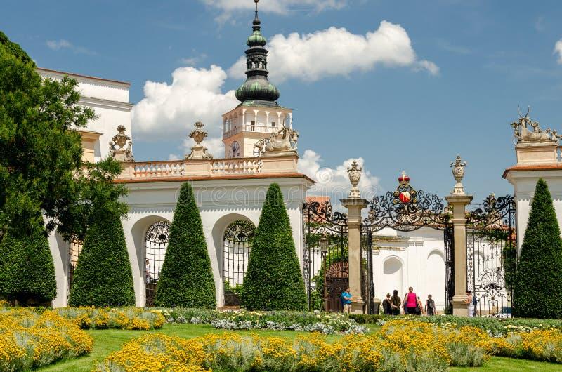 米库洛夫城堡花园艺术 库存图片