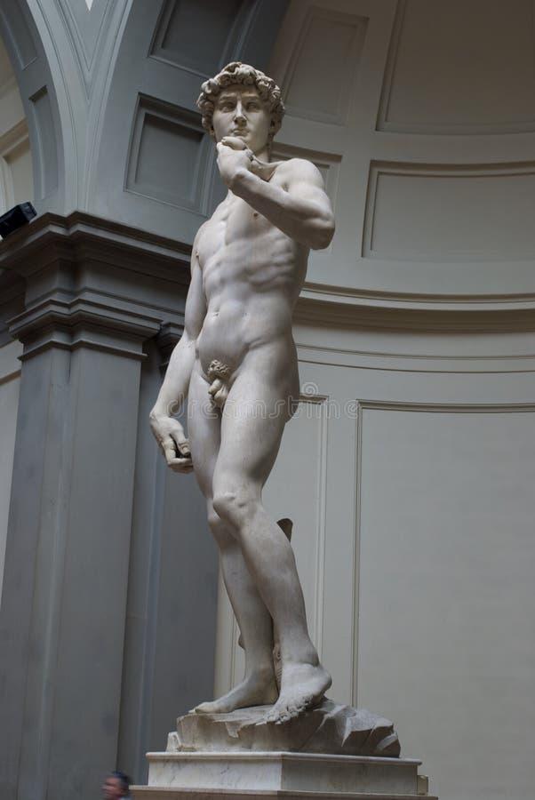 米开朗基罗的大卫在佛罗伦萨意大利 图库摄影