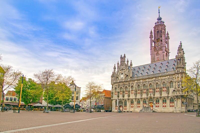 米德尔堡,镇在荷兰 免版税库存照片