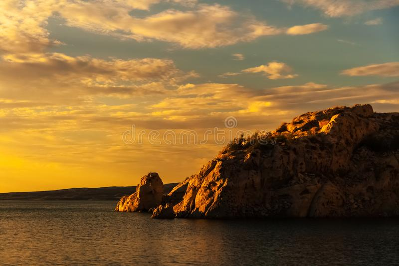 米德湖全国度假区,内华达 库存照片
