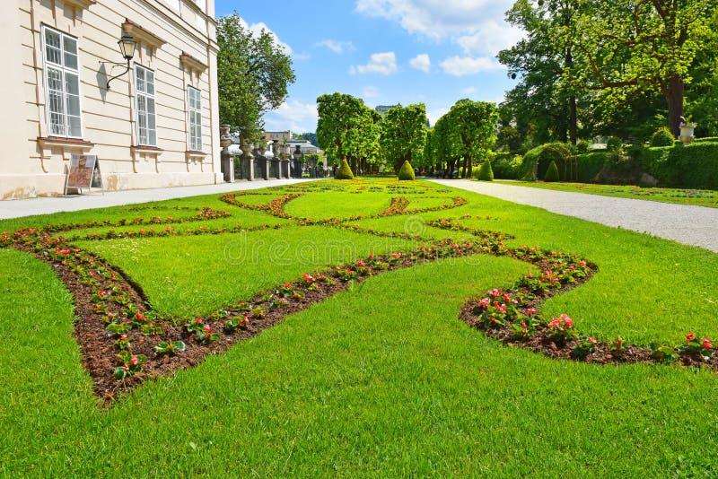 米拉贝尔宫或施洛斯Mirabell和Mirabell庭院在萨尔茨堡 免版税库存照片