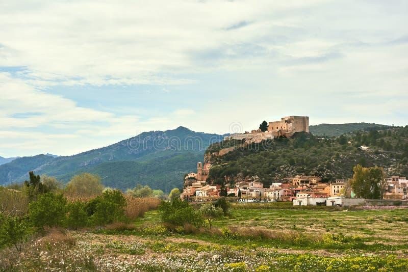 米拉韦村庄在西班牙 库存图片