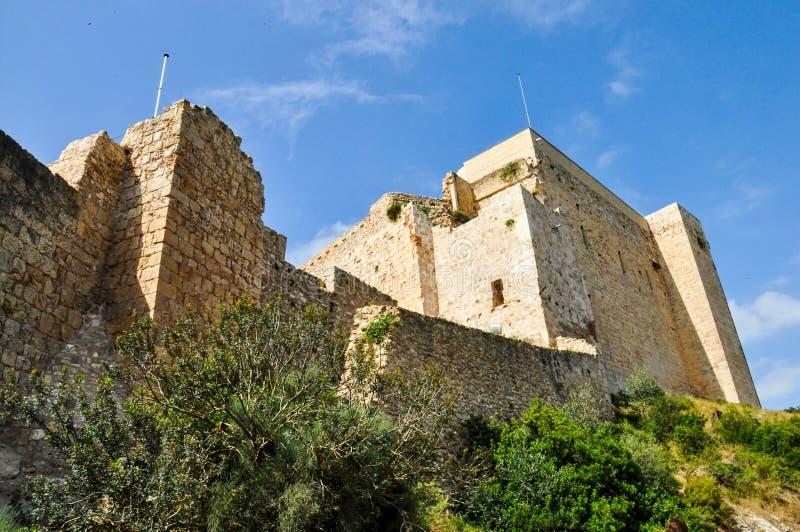 米拉韦,塔拉贡纳,卡塔龙尼亚,西班牙城堡  免版税库存照片