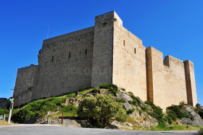 米拉韦,西班牙Templar城堡  免版税库存照片