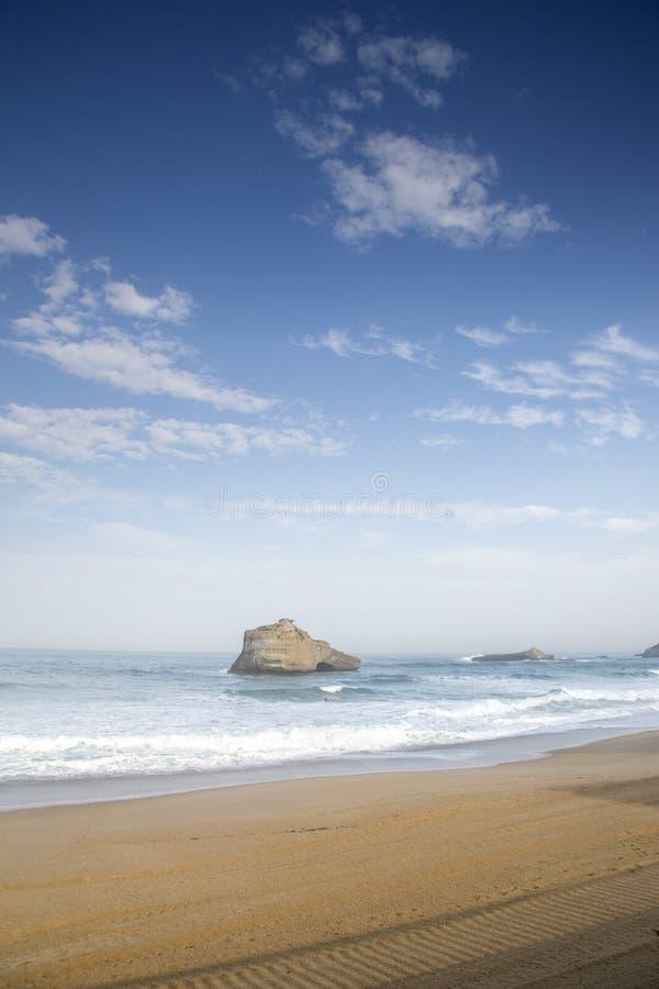 米拉马尔海滩;比亚利兹 图库摄影