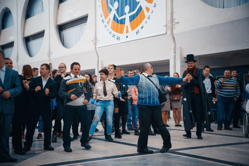米斯克,白俄罗斯- 2017年5月1日:残疾人舞蹈 图库摄影