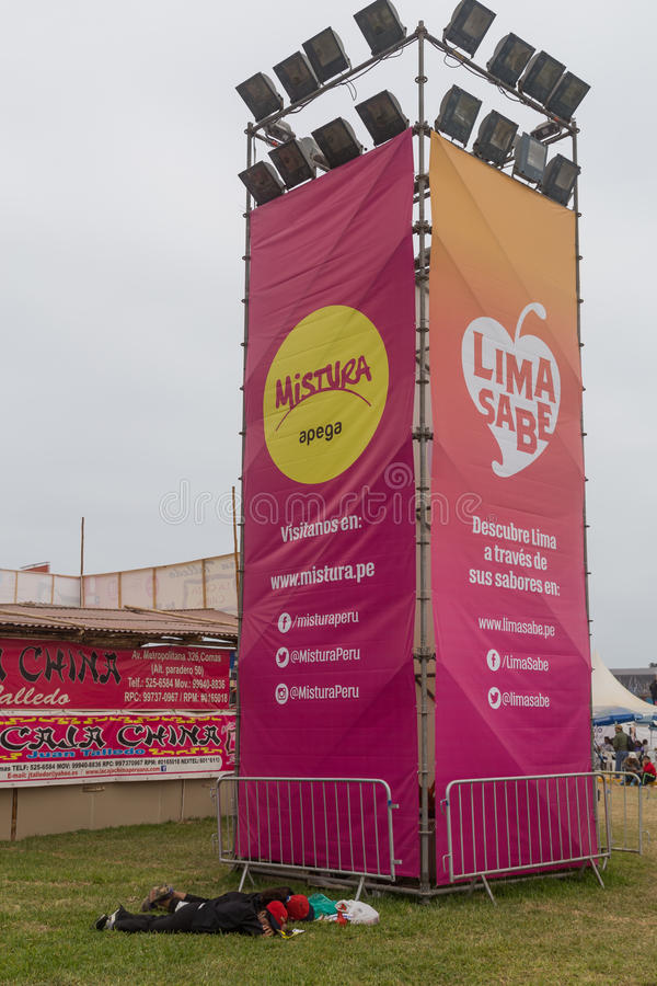米斯图拉节日2015年在利马,秘鲁 库存图片
