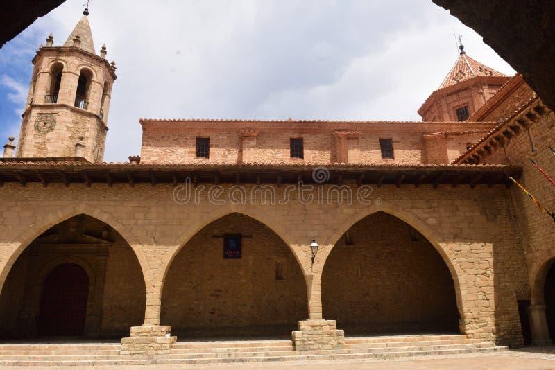 米朗贝尔,特鲁埃尔省村庄省,西班牙 免版税库存照片