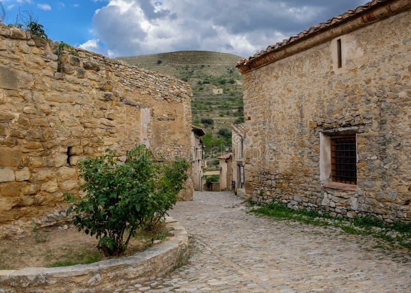 米朗贝尔,特鲁埃尔省,阿拉贡,西班牙省  图库摄影