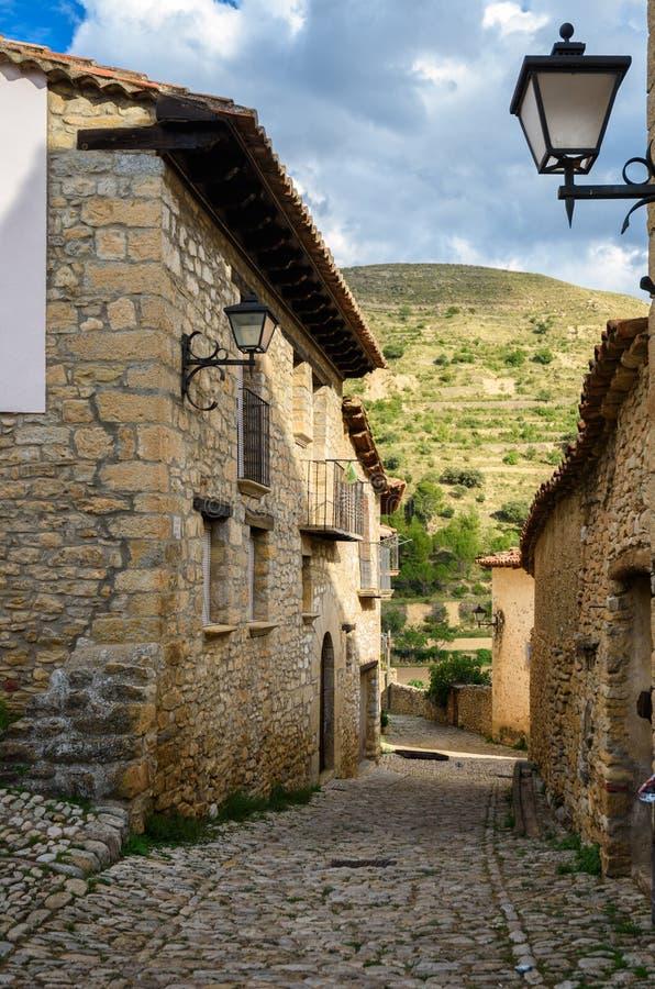 米朗贝尔,特鲁埃尔省,阿拉贡,西班牙省  免版税库存图片