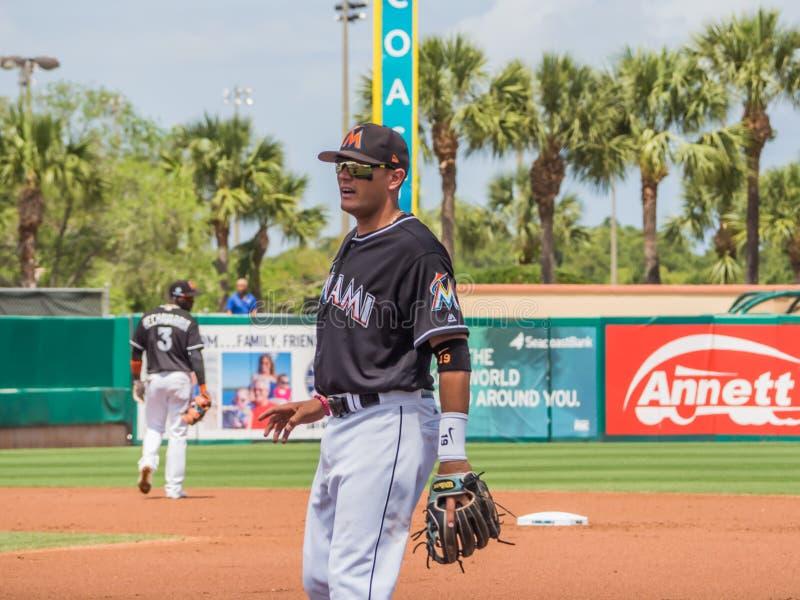 米格尔罗哈斯迈阿密细索2017年棒球 免版税库存照片