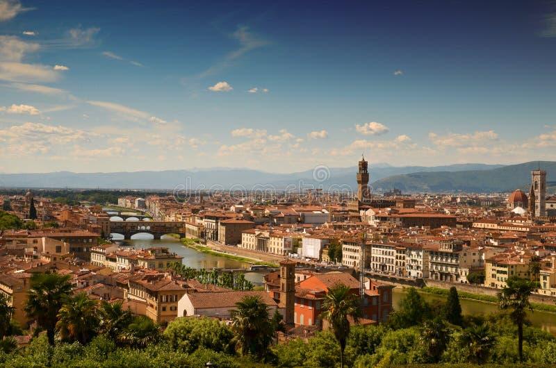 从米歇尔安吉洛大阳台的佛罗伦萨 免版税库存图片
