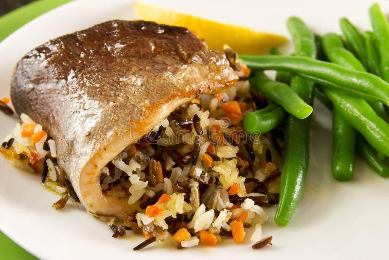 米烤鳟鱼 库存图片