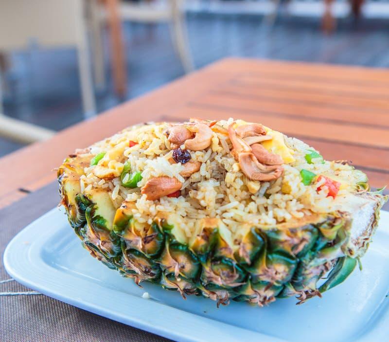 米用菠萝 免版税库存照片