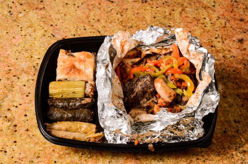 米盖子和烤肉 库存图片