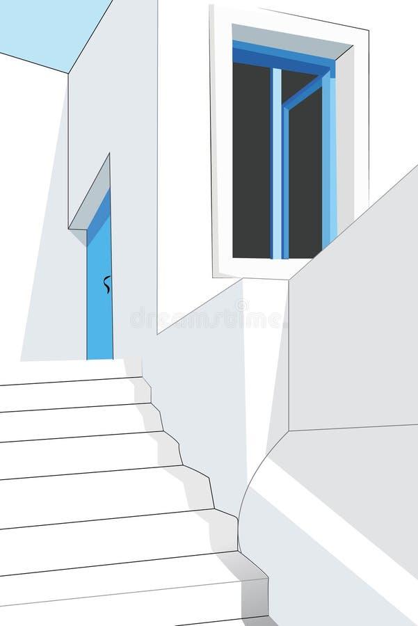 米科诺斯岛传统房子 免版税库存照片