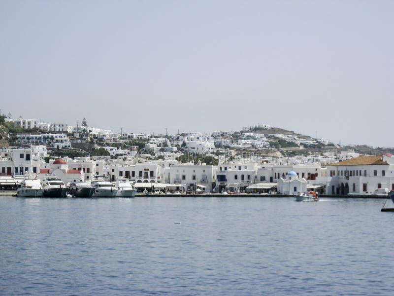 米科诺斯岛希腊人海岛 免版税库存图片