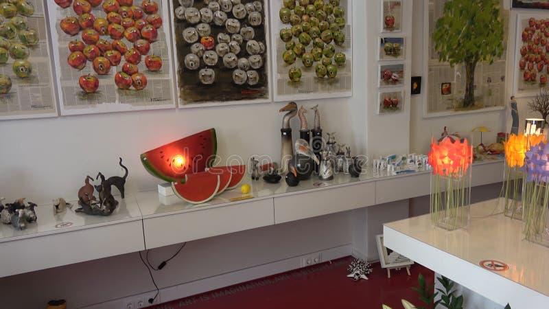 米科诺斯岛海岛,希腊礼品店 库存图片