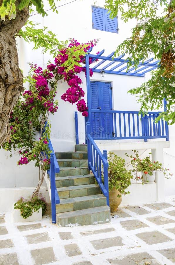 米科诺斯岛海岛建筑学,希腊 库存图片