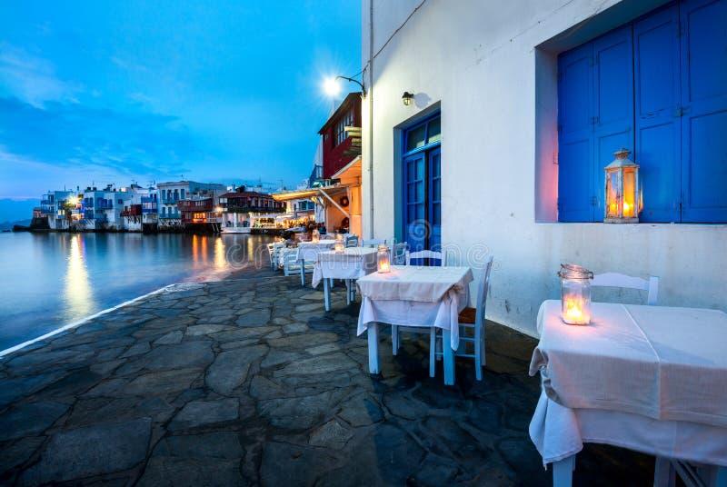 米科诺斯岛,希腊一点威尼斯  库存照片