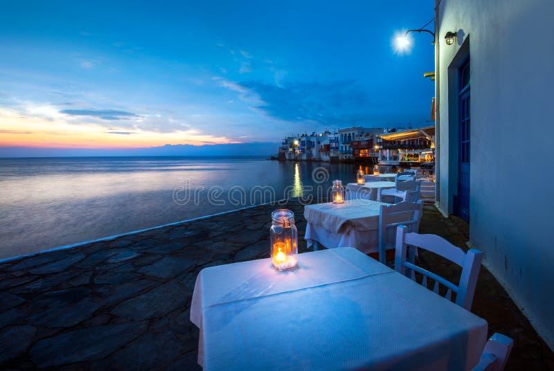 米科诺斯岛,希腊一点威尼斯  图库摄影