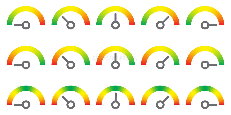 米签署infographic测量仪元素 库存例证