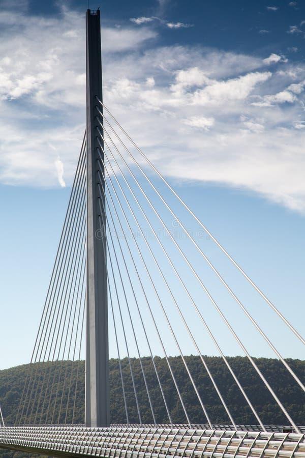 米约高架桥在法国,欧洲 免版税库存图片