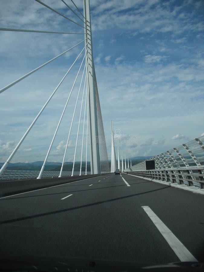 米约高架桥在法国 免版税库存图片