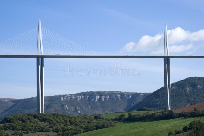 米约高架桥 免版税图库摄影