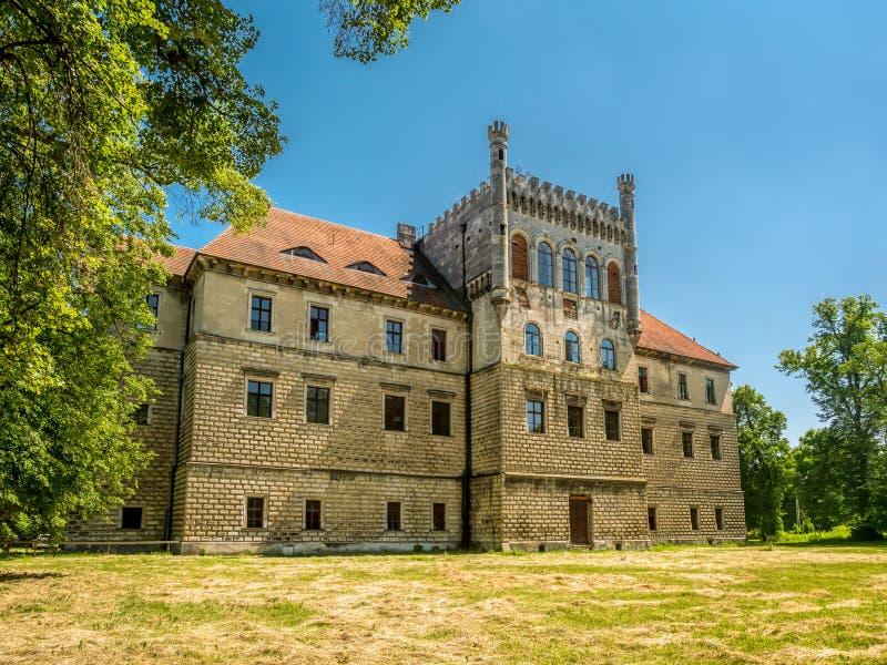 米罗城堡在Ksiaz Wielki,波兰 库存图片