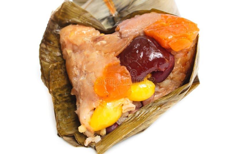 米饺子、zongzi或者bakcang。 免版税库存照片